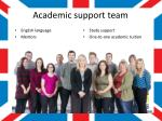 academic support team