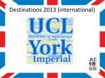 destinations 2013 international