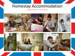 homestay accommodation 105 per week or 75 self catering