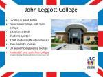 john leggott college1
