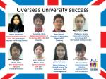 overseas university success