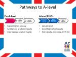 pathways to a level