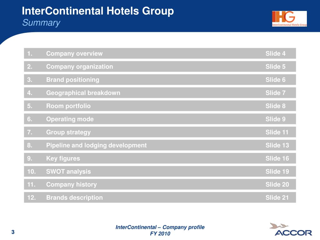 PPT - InterContinental Hotels Group PowerPoint Presentation