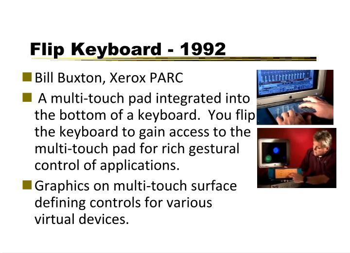 Flip Keyboard - 1992