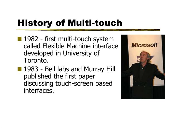 History of Multi-touch