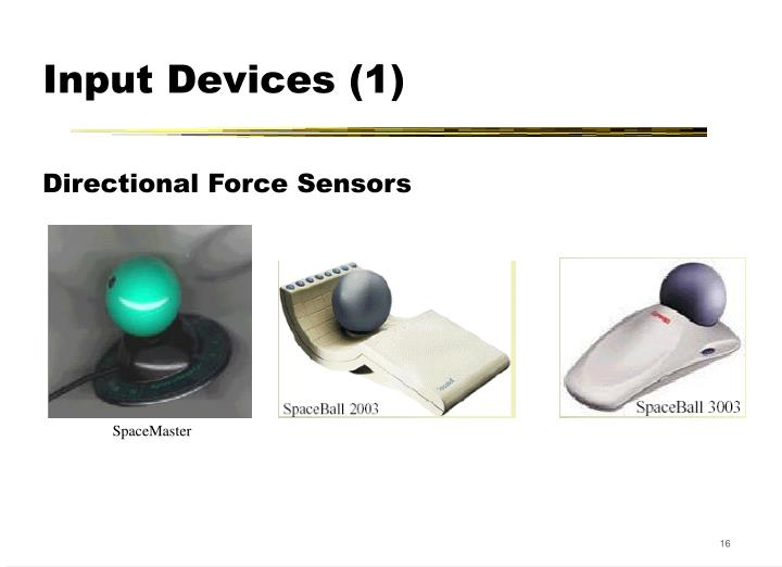 Input Devices (1)