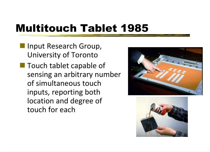 Multitouch Tablet 1985
