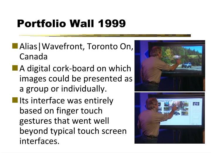 Portfolio Wall 1999