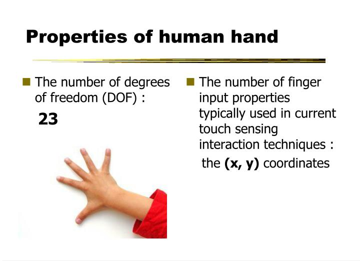 The number of degrees of freedom (DOF) :