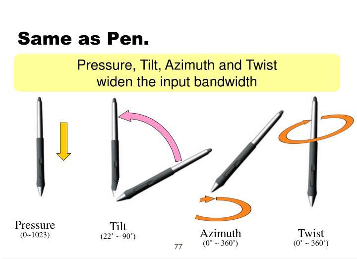 Same as Pen.