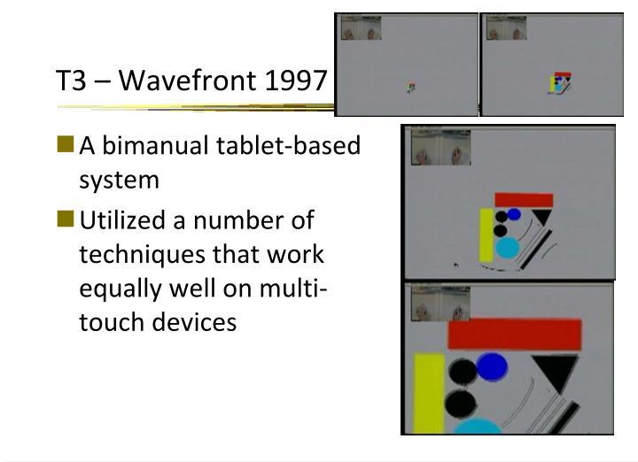T3 – Wavefront 1997