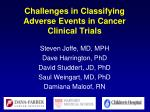 challenges in classifying adverse events in cancer clinical trials