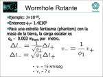 wormhole rotante