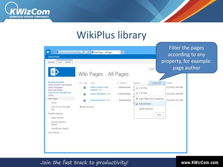 WikiPlus library