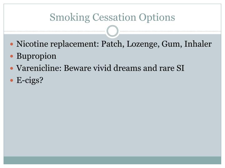 Smoking Cessation Options