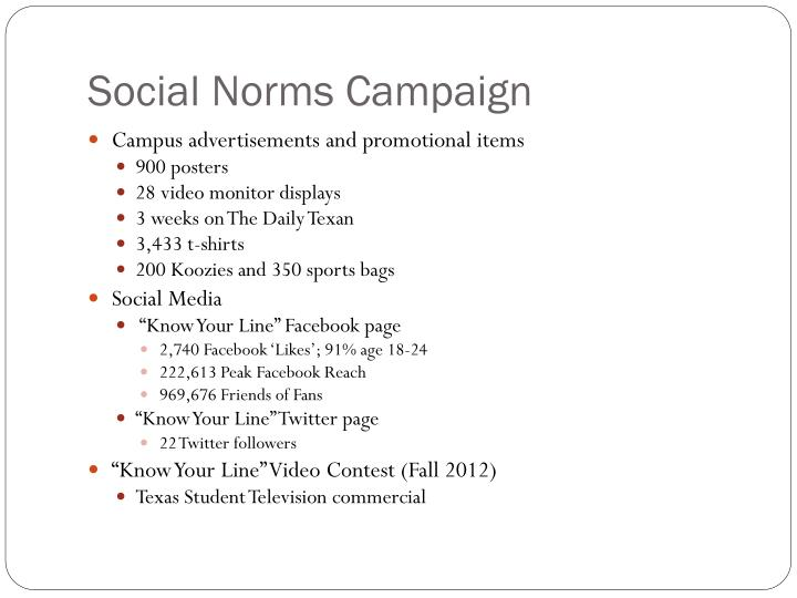social norm project Social norm project – the social world we live in is composed of thousands of rules, norms, and laws some norms are explicit: in america we drive on the right hand.
