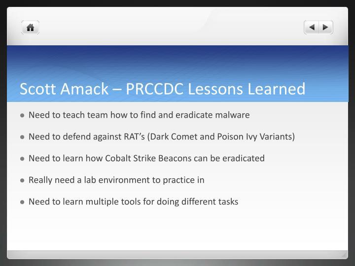 Scott Amack – PRCCDC Lessons Learned