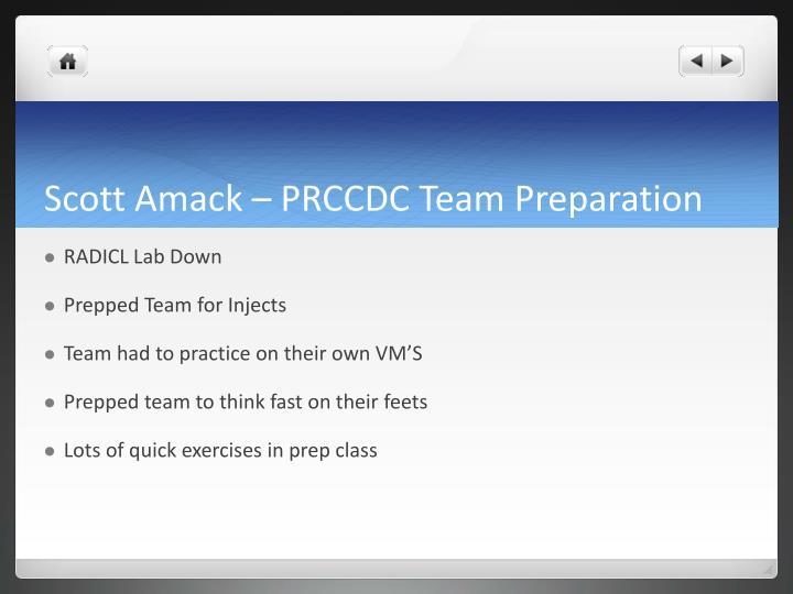 Scott amack prccdc team preparation
