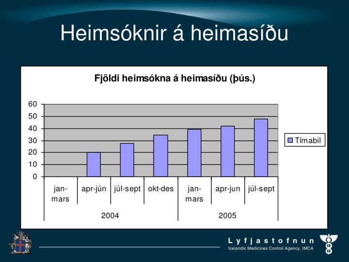 Heimsóknir á heimasíðu