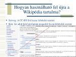 hogyan haszn lhat fel jra a wikip dia tartalma