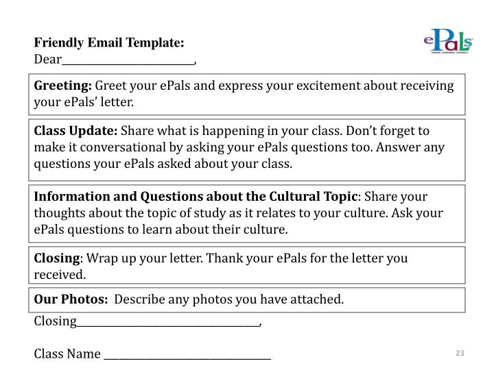 Friendly Email Template: