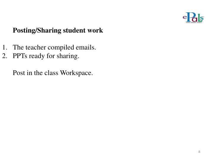 Posting/Sharing student work