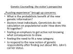 genetic counselling the visitor s perspective1