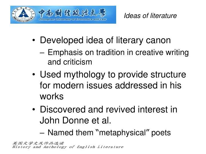 Ideas of literature