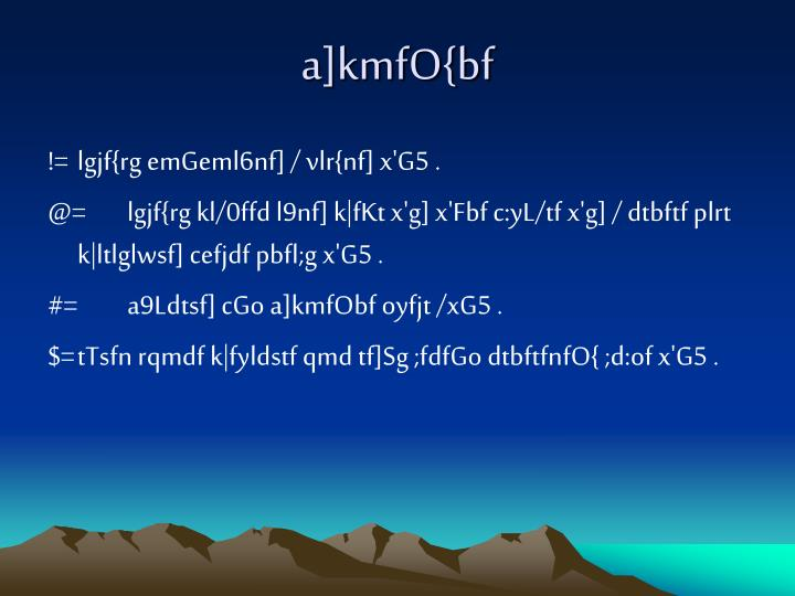 a]kmfO{bf