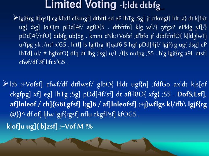 Limited Voting
