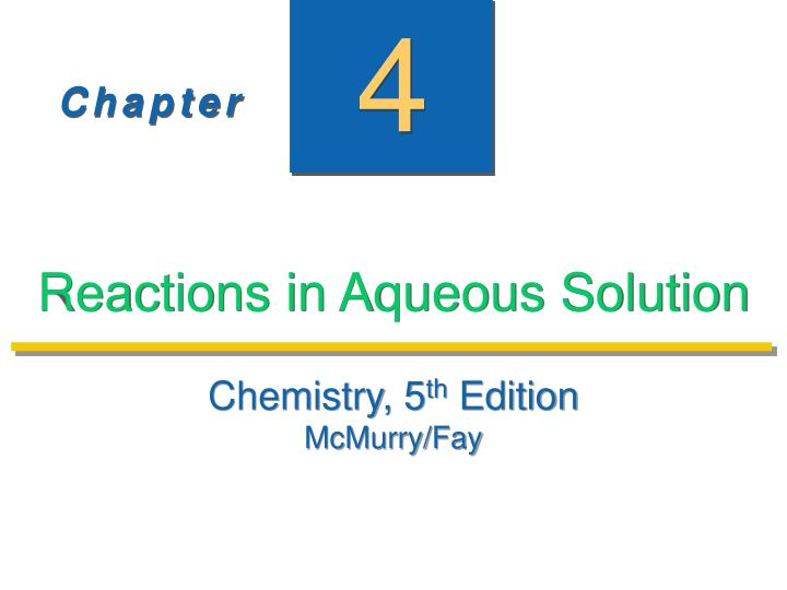 reactions in aqueous solution n.