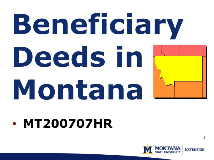 beneficiary deeds in montana n.