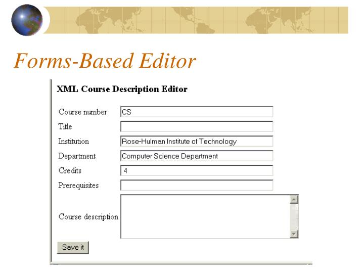 Forms-Based Editor