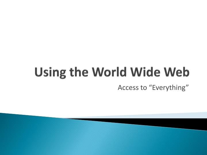 using the world wide web n.