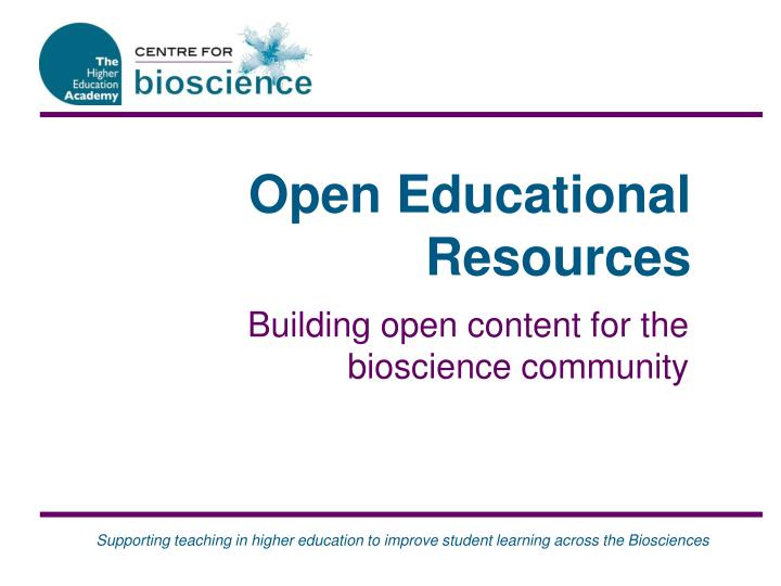 open educational resources n.