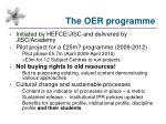 the oer programme