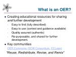 what is an oer