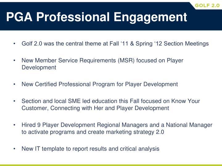 PGA Professional Engagement