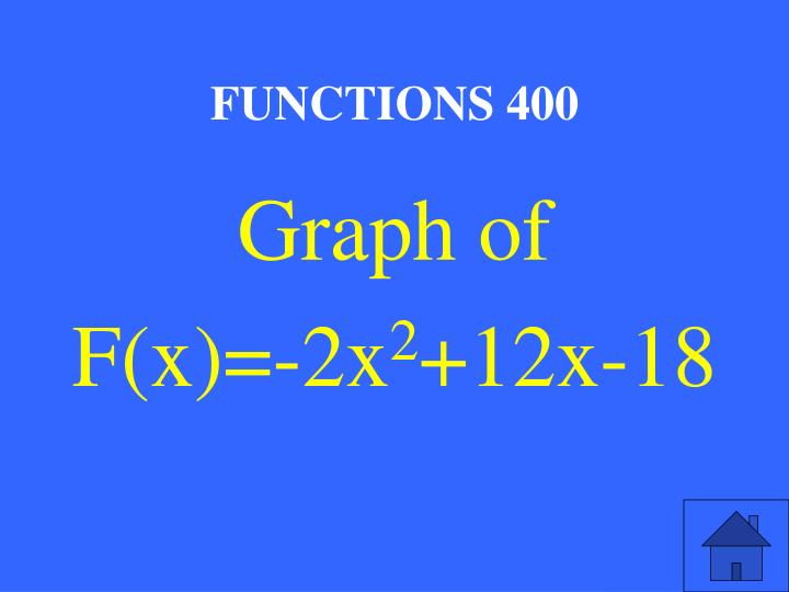 FUNCTIONS 400