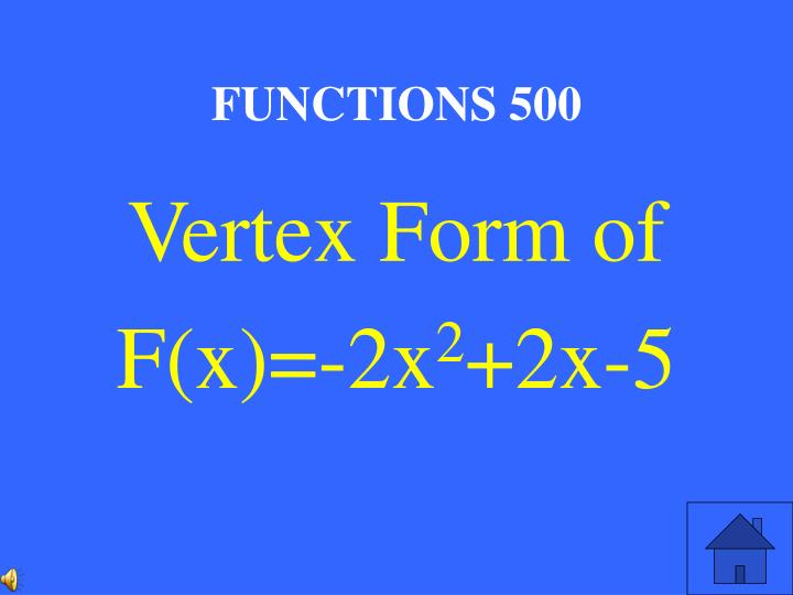 FUNCTIONS 500