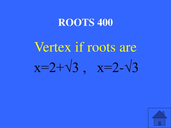 ROOTS 400