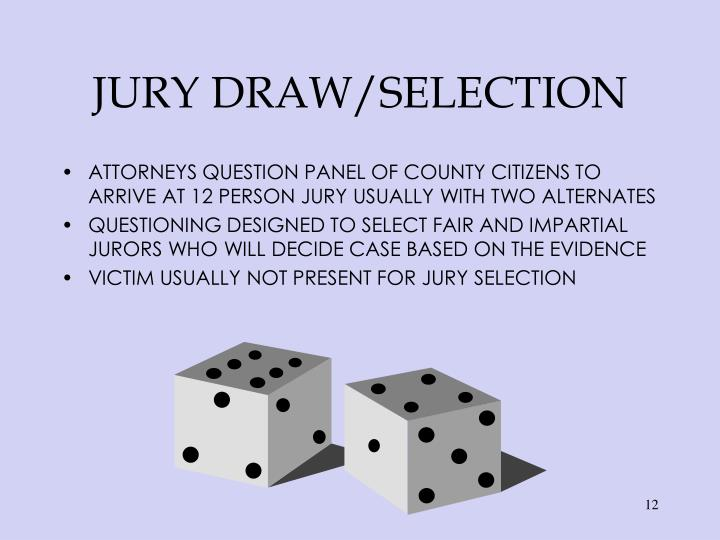 JURY DRAW/SELECTION
