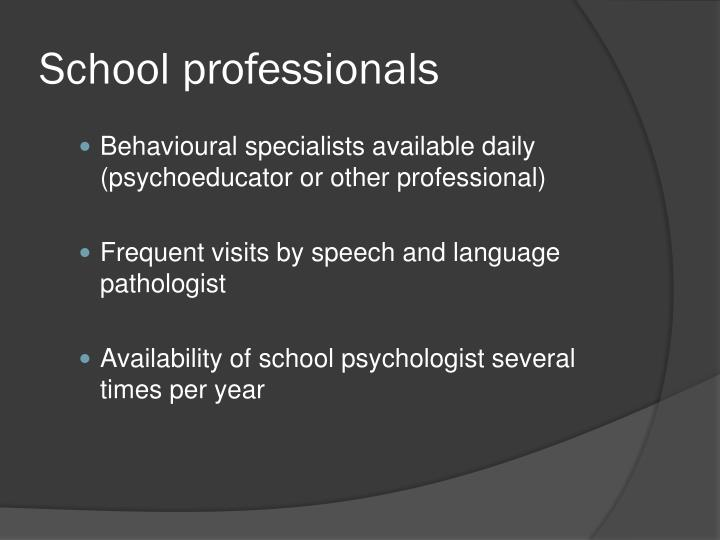 School professionals