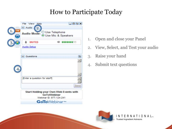 How to participate today