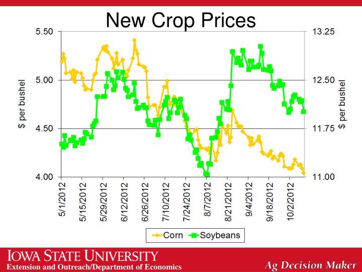 New Crop Prices
