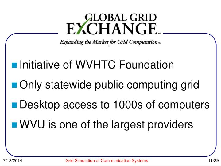 Initiative of WVHTC Foundation