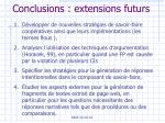conclusions extensions futurs