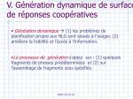 v g n ration dynamique de surface de r ponses coop ratives