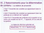 vi 2 raisonnements pour la d termination de contenu la relation de proximit