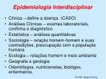 epidemiologia interdisciplinar